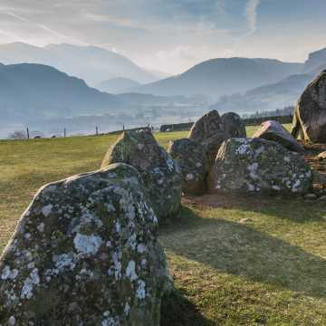 Views of the fells at Castlerigg Stone Circle