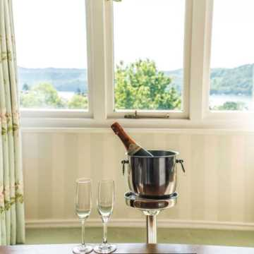 Champagne and Lake Views