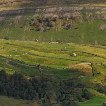 The view down Swaledale