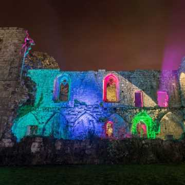The Yorkshire Dales and Jervaulx Abbey in Lights