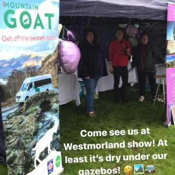 Mountain Goat had a wonderful (and wet) Westmorland County Show