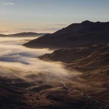 Cloud inversion in the Langdale Valley